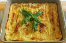 Lasagne ai formaggi e basilico
