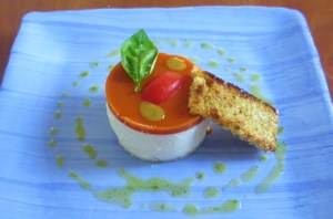 Raveggiolo, pomodoro, pane e basilico