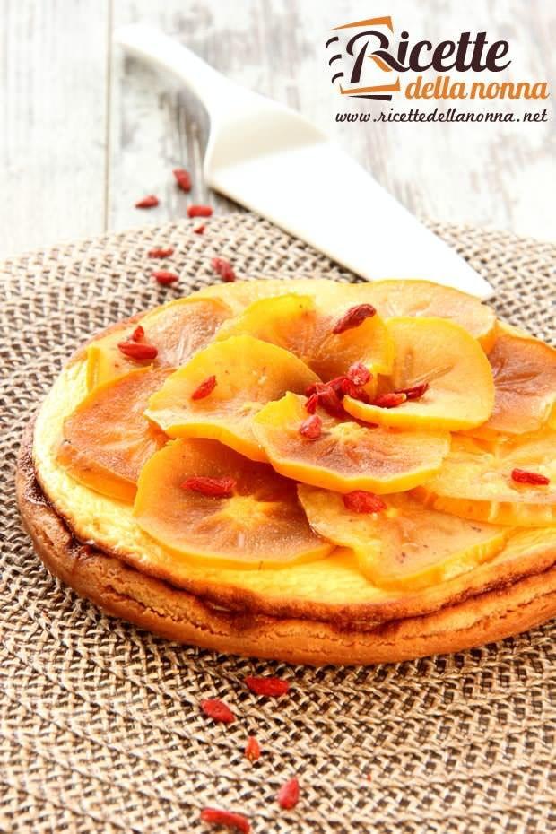 Cheesecake cachi e bacche di Goji ricetta e foto