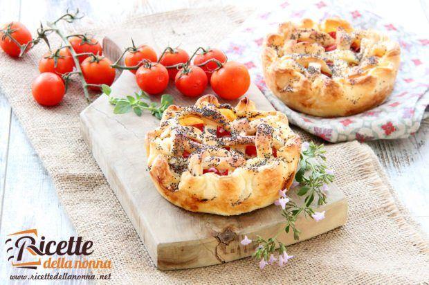 Ricetta crostatine di pomodorini e ricotta