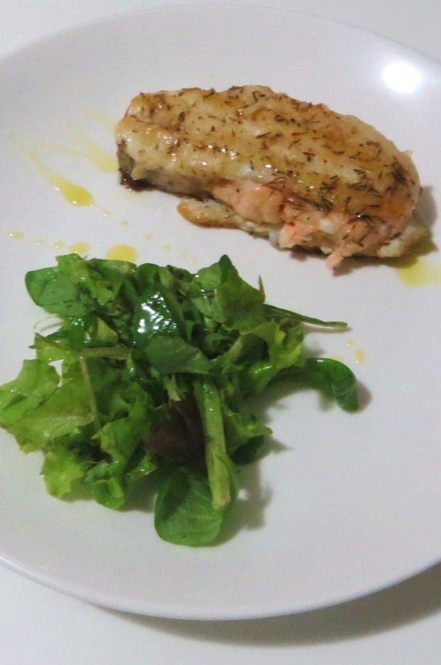 Spigola e salmone in padella ricetta e foto