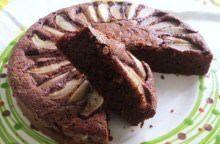 Torta nera con pere e farina di riso