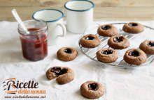 Cookies croccanti alla marmellata senza glutine