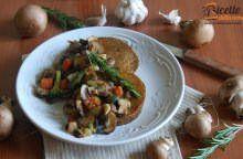 Scaloppine di seitan con funghi e verdure