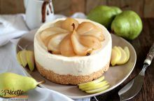Cheesecake ricotta e pere senza cottura