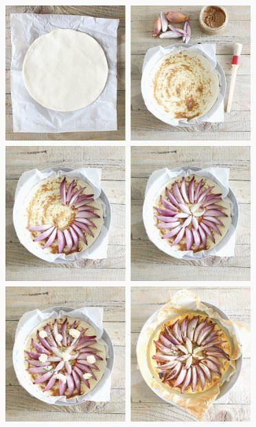 tarte fine scalogni step by step