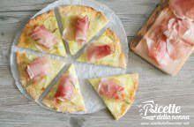 Pizza senza glutine alle patate e speck