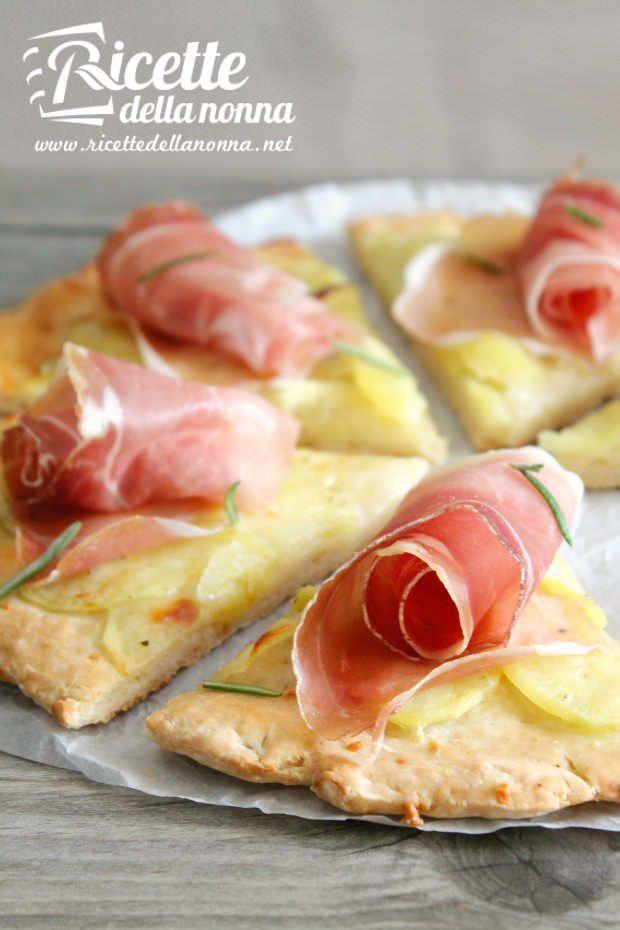 foto pizza senza glutine patate speck 2