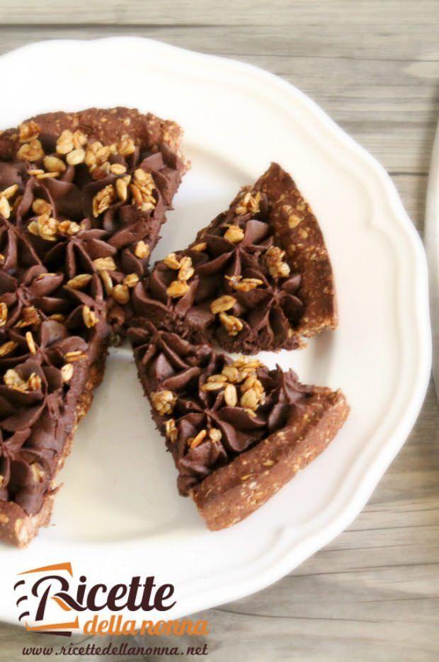 Crostata avena e cioccolata