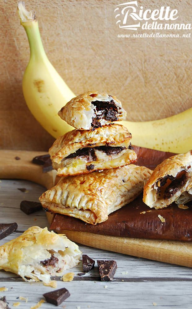 fagottini di banane e cioccolato