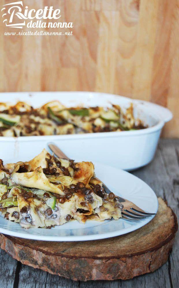 lasagne lenticchie zucchine vegan