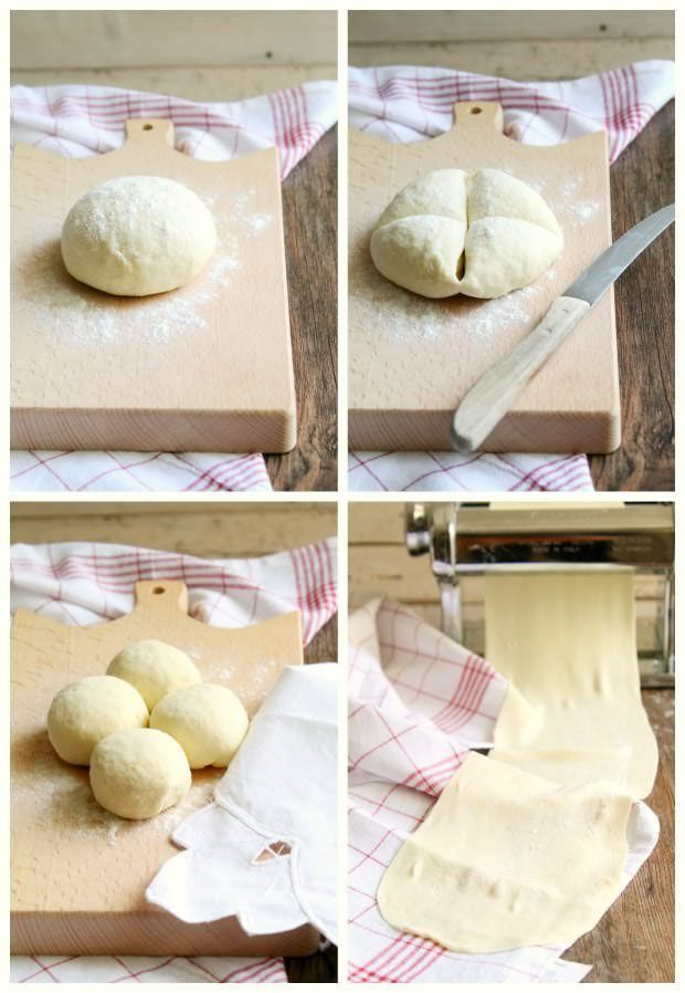 Pasta fillo step by step
