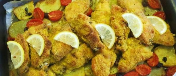 Teglia di ali di pollo