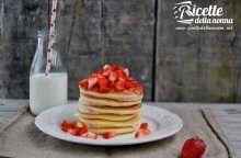 Pancakes con le fragole