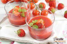 Gazpacho di fragole e pomodoro