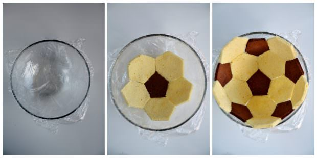 Composizione torta pallone da calcio