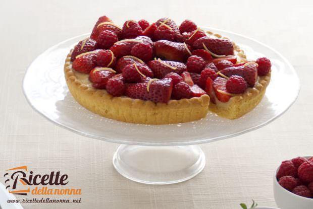 torta di fragole e crema