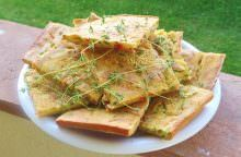 Schiacciata di zucchine e pomodoro