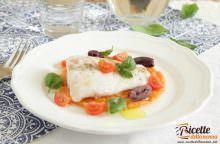 Filetto di pesce persico cotto a bassa temperatura