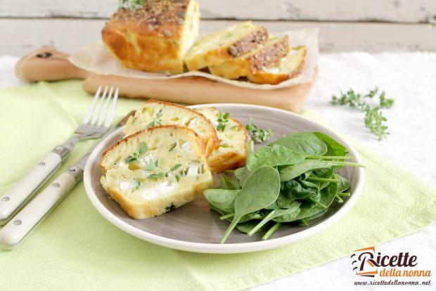 Ricetta plumcake salato alle zucchine e morlacco
