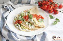 Crespelle estive con zucchine e pomodorini