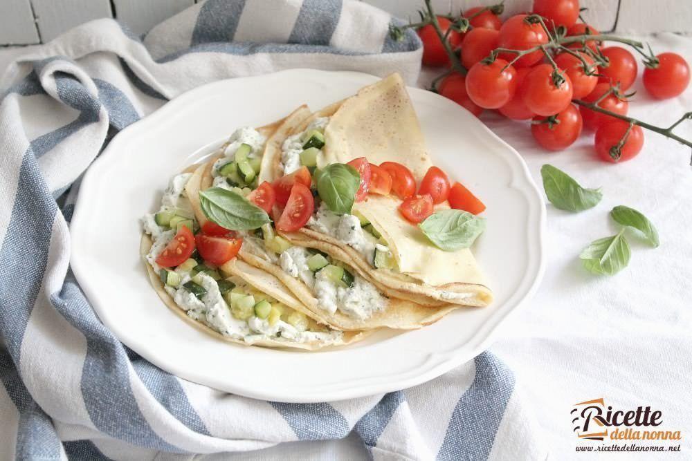 Crespelle estive con zucchine e pomodorini ricette della for Primi piatti freddi