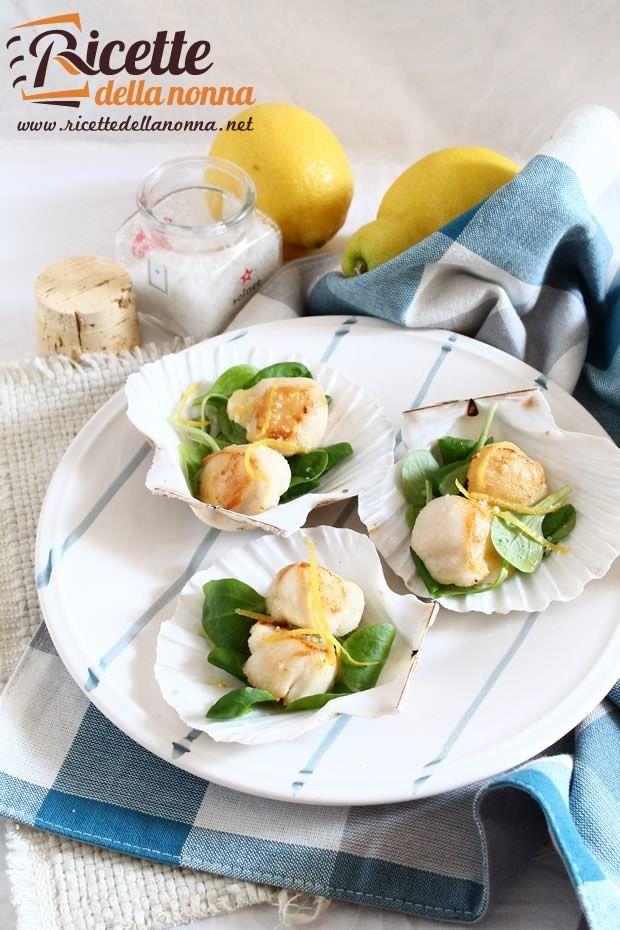 Foto capesante arrosto al limone confit