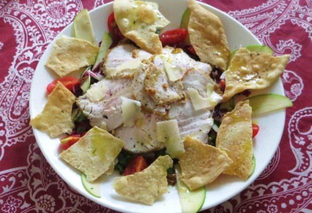 Ricetta fesa di tacchino in insalata