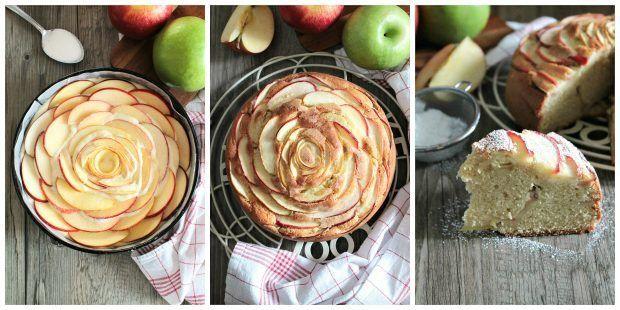 Preparazione torta alle mele
