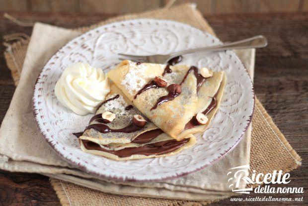 Crepes alla Nutella ricetta e foto