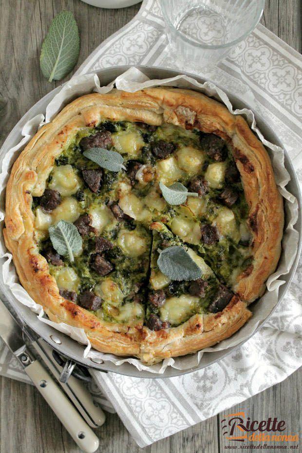 Torta salata verza e mozzarella ricetta e foto