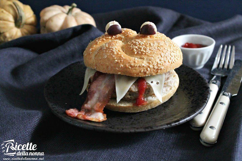 Ricetta cheeseburger pauroso di Halloween