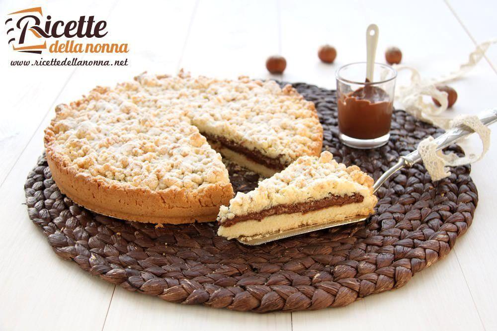 Sbriciolata alla nutella ricette della nonna for Ricette torte semplici