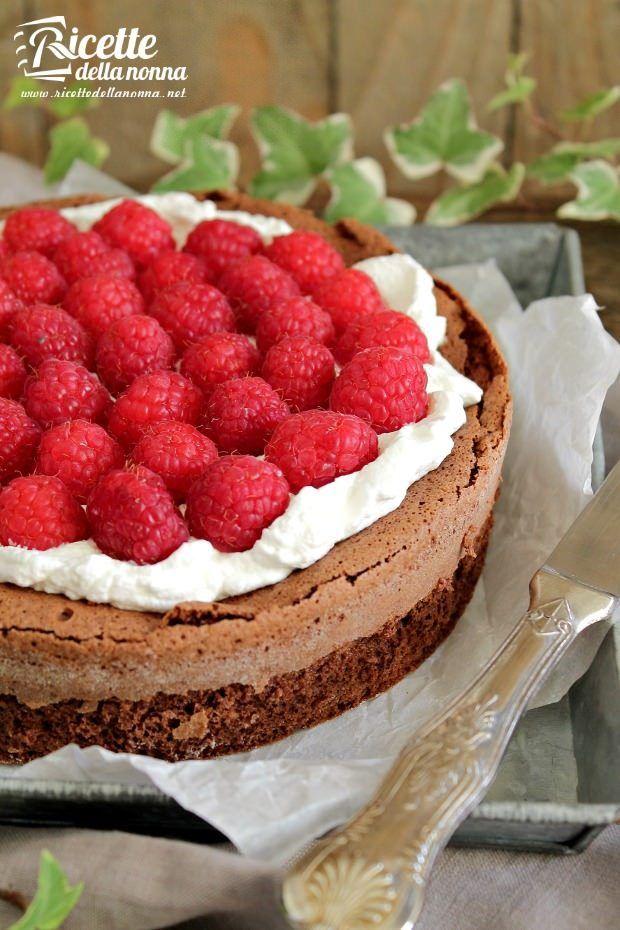 Foto torta soffice al cioccolato senza farina