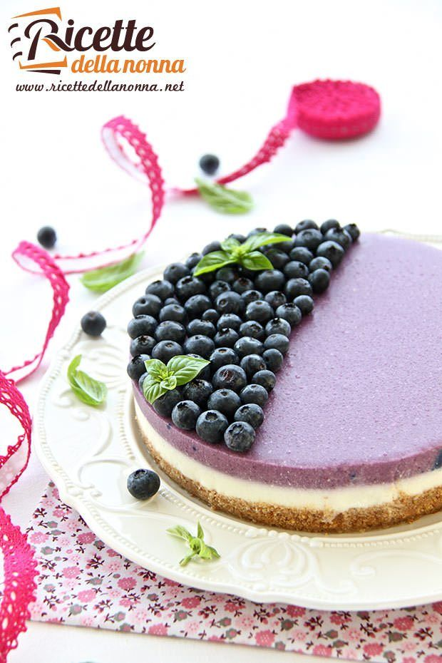 Foto cheesecake ai mirtilli