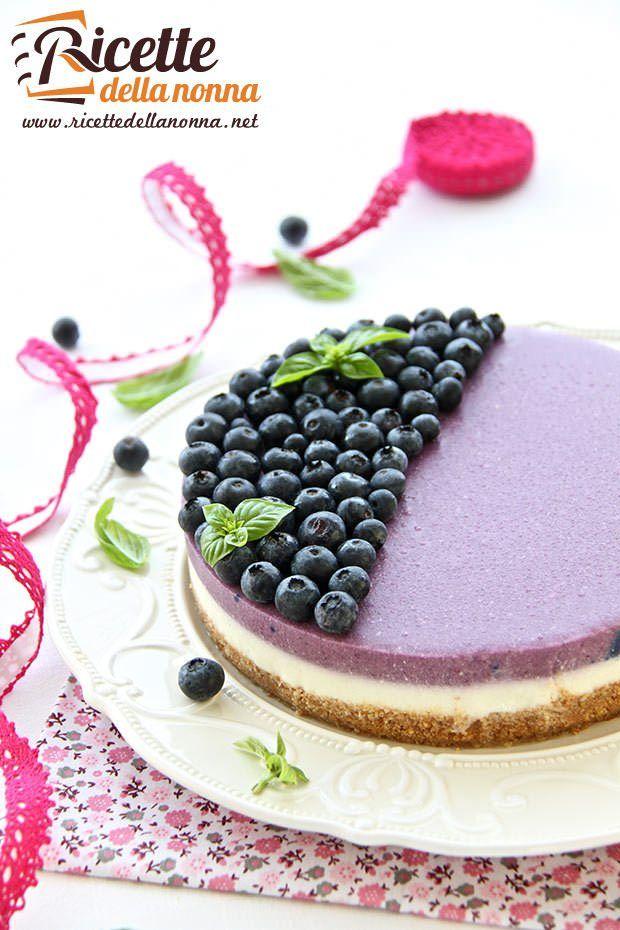 Foto cheesecake ai mirtilli