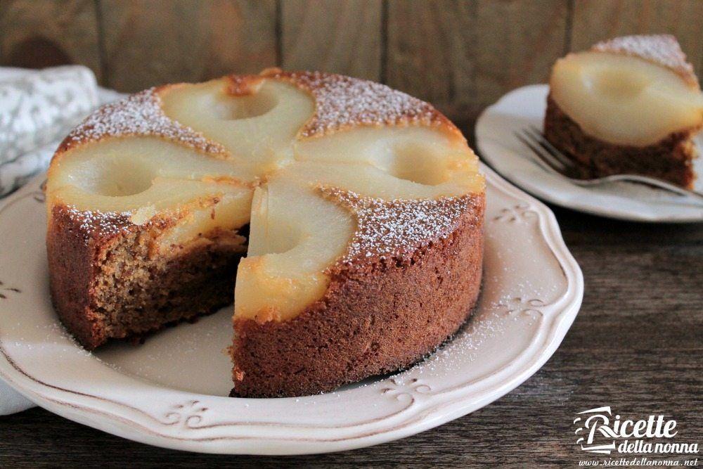 Ricetta torta rovesciata alle pere e zenzero