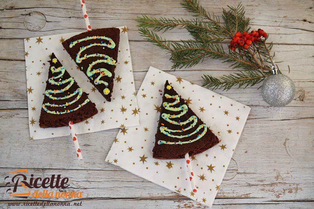 Brownies alberi di natale ricette della nonna for Alberi natale artificiali