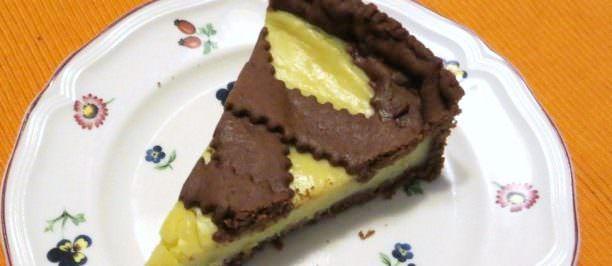 Torta di frolla al cacao e crema di limone