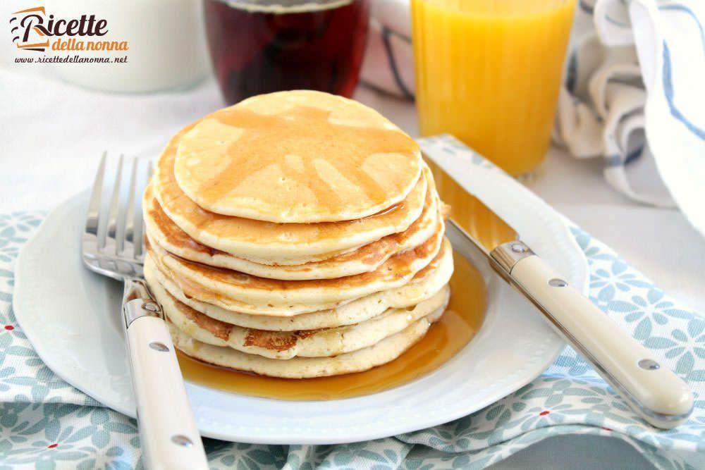Ricetta Pancake Originali Americani.Ricetta Pancake Soffici Ricette Della Nonna