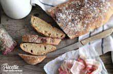 Pane tipo ciabatta fatto in casa