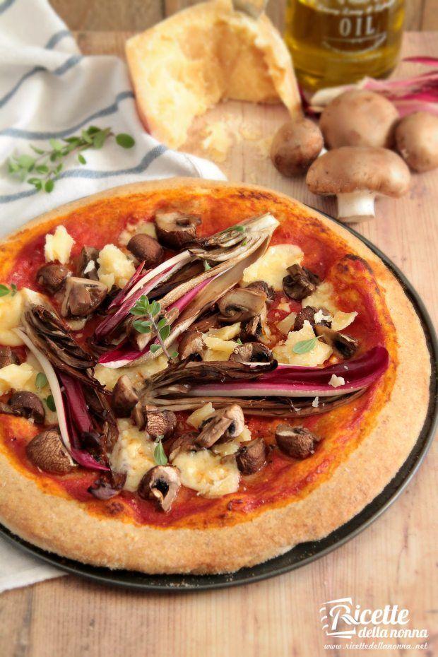 Foto impasto integrale per la pizza
