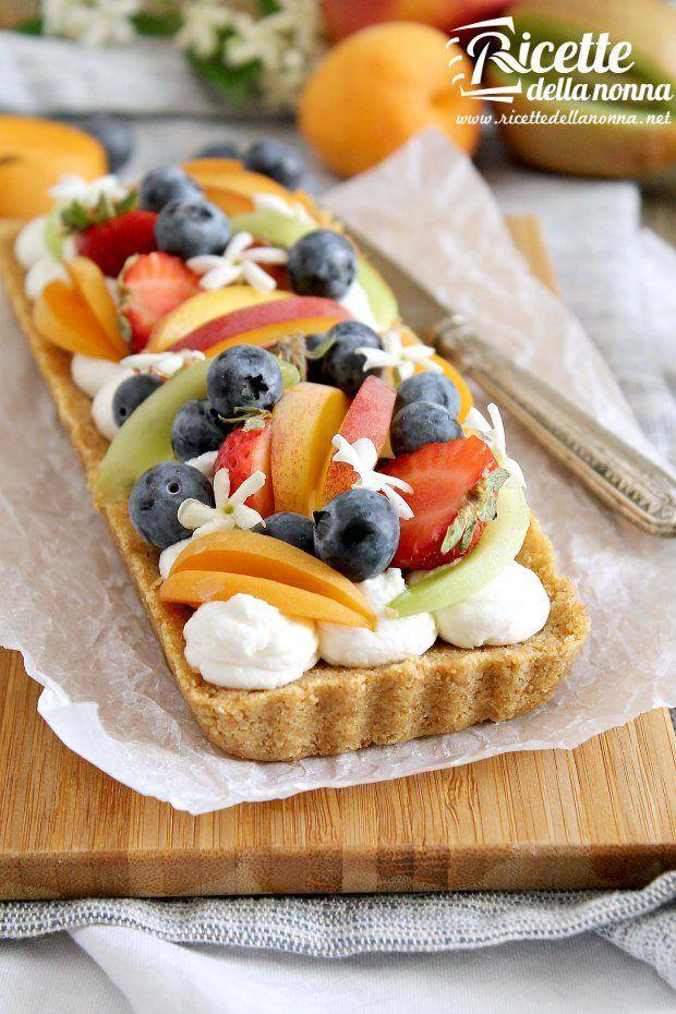 Foto crostata di frutta senza cottura