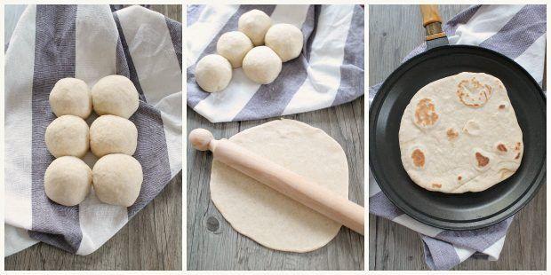 Preparazione tortillas fatte in casa 2