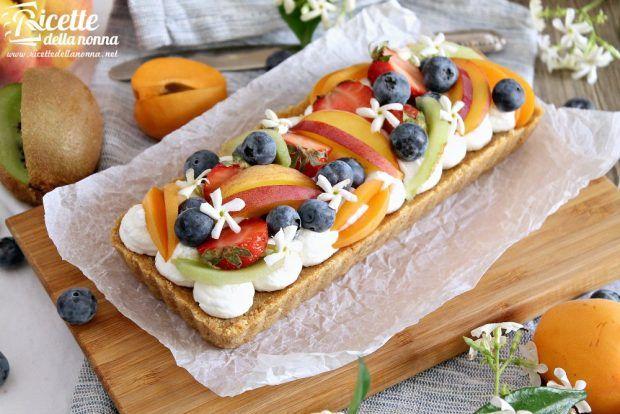 Ricetta crostata di frutta senza cottura