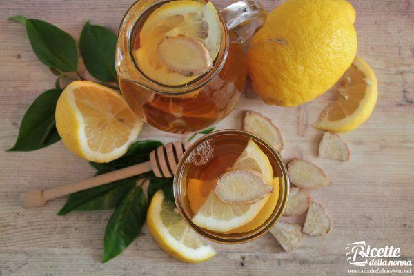 Infuso zenzero, limone e miele