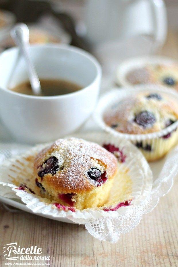 Foto muffin ai mirtilli