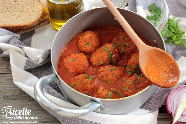 Ricetta polpette di carne in umido al pomodoro