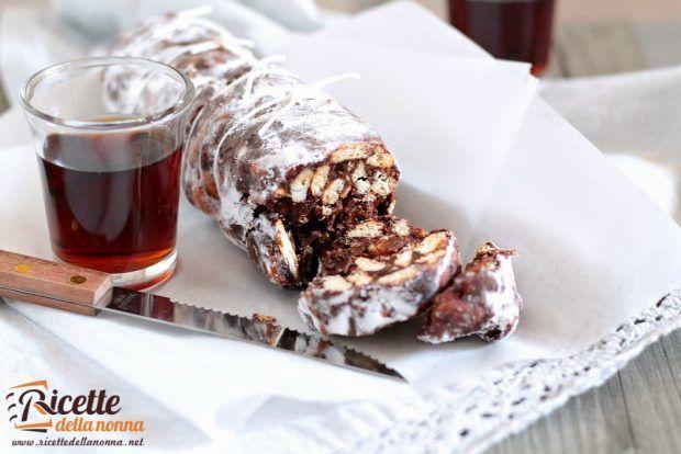 Ricetta salame al cioccolato senza uova