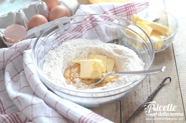 Preparazione paste di meliga, frollini al mais 2